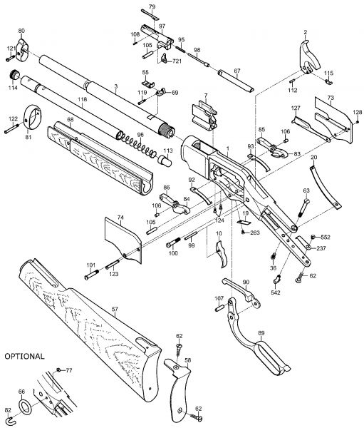 Rear Assembly 1866 Carbine